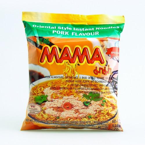 Carton de 30 Soupes de nouilles saveur porc, Mama, 55g