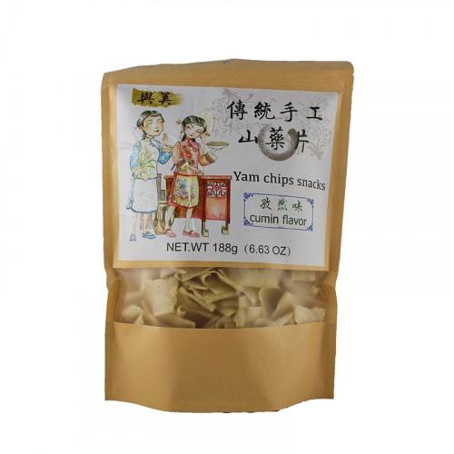 Chips d'igname de Chine Artisanale saveur cumin 188g YuMei
