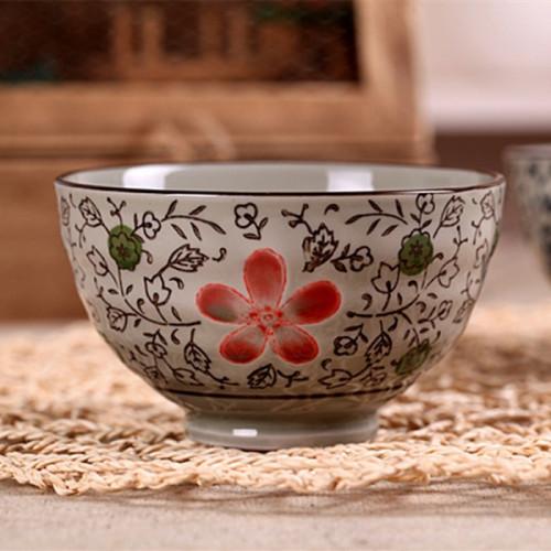 Coffret de 4 bols fleur de cerisier rose