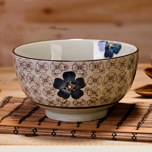 Coffret de 4 bols fleur de cerisier bleu