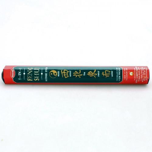 Encens Hem Feng shui 5 en 1 - 20 bâtonnets