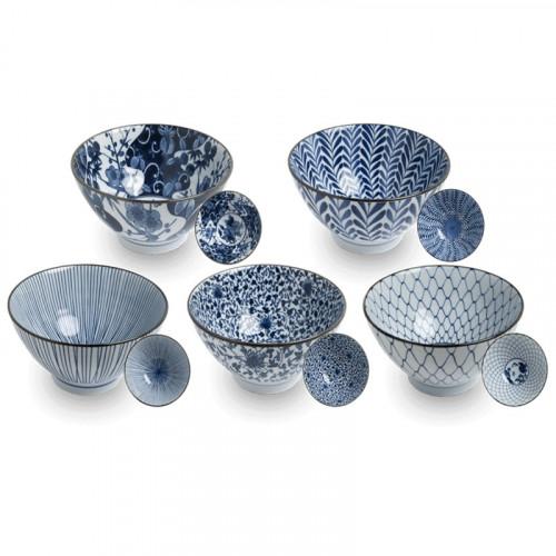 Coffret 5 bols Japonais Traditionnel