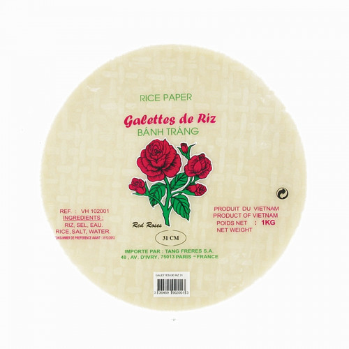 Galettes de riz 31cm Red Rose 1kg