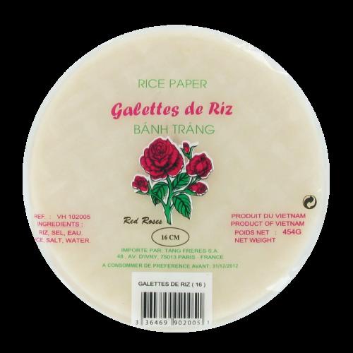 Galettes de riz 16cm  Red Rose 454g