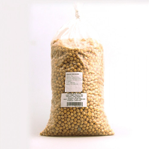 Grains de soja jaune 1kg