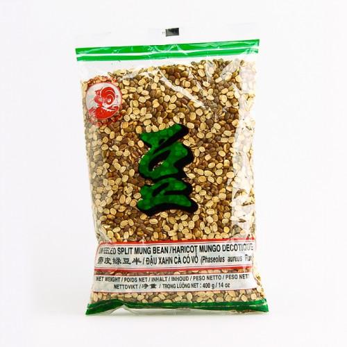 Graines de soja vert (haricots mungo) décortiqués 400g