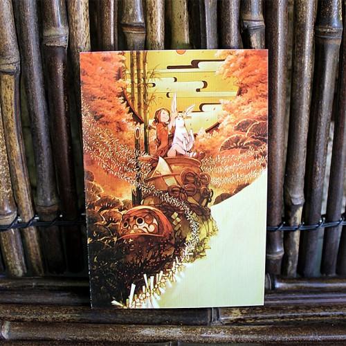 Carte postale japonaise - Sunset style Ghibli