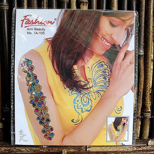 Tatouage éphémère strasse colorés et dorés