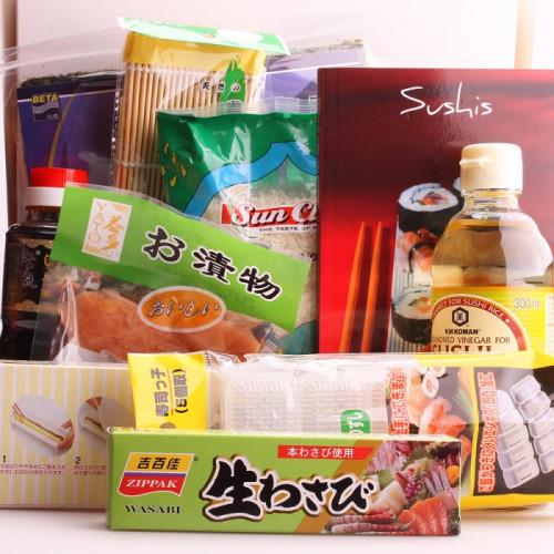 Kit sushi avec moules et feuille de recette