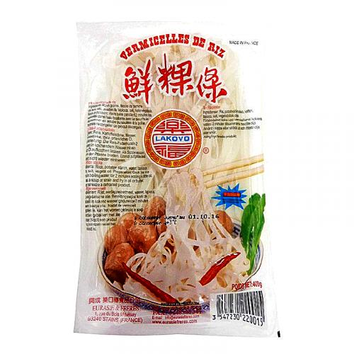 Vermicelles de riz ou pâtes de riz 5mm frais LAKOVO 400g