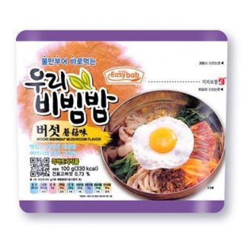 Bibimbap instantanée aux champignons shiitake EasyBab 100g