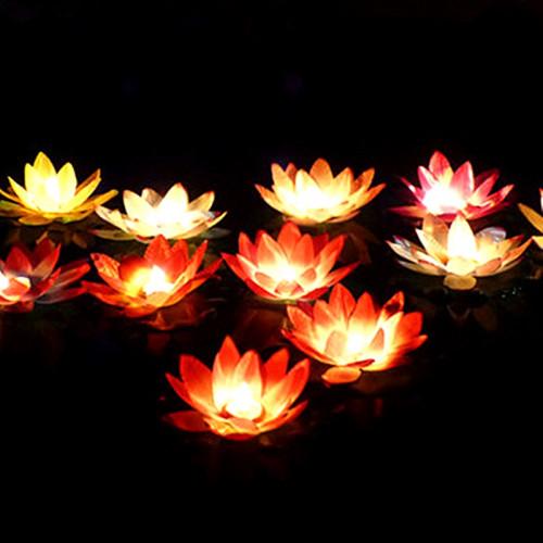 Lanterne flottante ( lanterne de vœux) en forme de lotus avec bougie