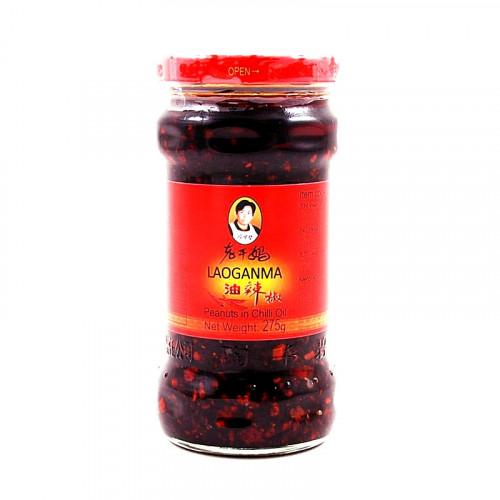 Huile pimentée du Sichuan et cacahuètes Loaganma 275g