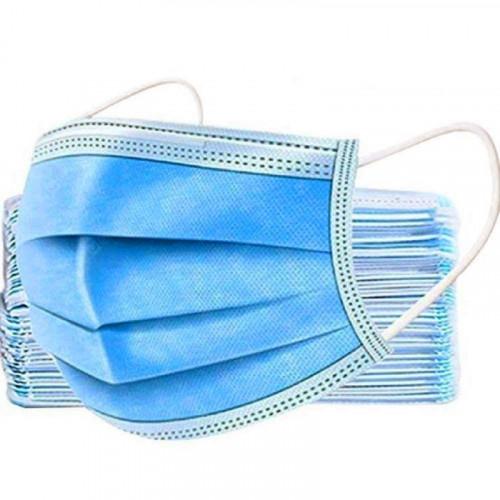 Lot de 50 masques de protection Jetable de qualité chirurgical 3 plis - Standard CE