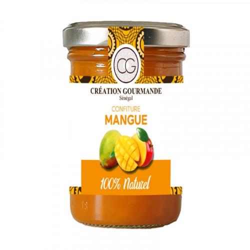 Confiture mangue fabrication artisanale avec morceaux 240g
