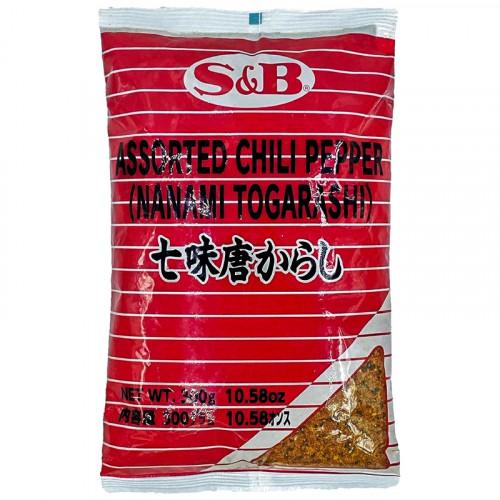 Mélange japonais de 7 épices pimentées 300g S&B