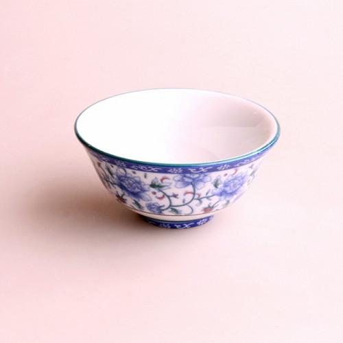 Mini Bol pivoine fond blanc 9cm diamètre