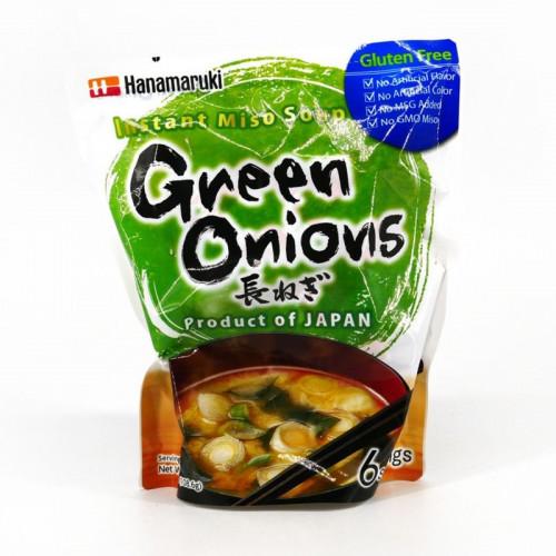 Soupe Miso instantanée aux oignons verts/ciboule-Hanamaruki-109.2g-6portions