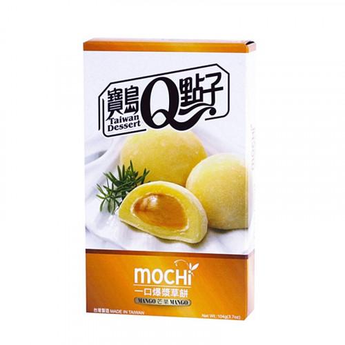 Mochi saveur Mangue Cœur fondant Taiwan Dessert 104g