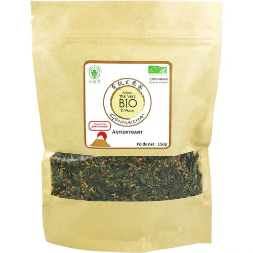 Genmaicha (thé vert grillé aux riz) BIO 150g