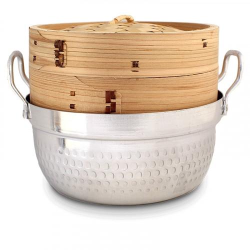 Panier vapeur en bambou avec fait tout 18cm