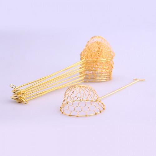 Passoire (louche) doré pour fondue 10 pièces