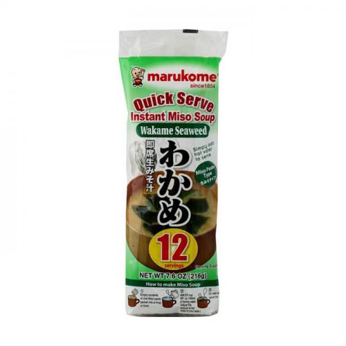 Soupe miso instantanée aux algues wakame 220g 12 portions