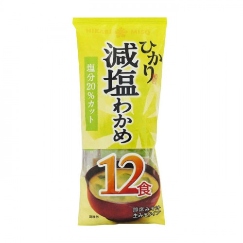 Soupe Miso instantanée sel réduite avec wakame, 198 g, 12 portions