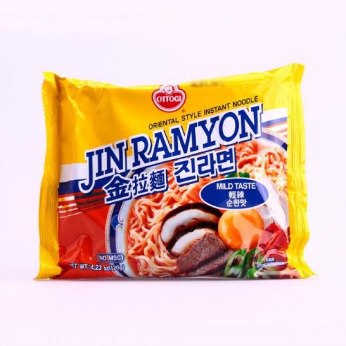 Carton de 20 Soupe de nouilles saveur épicé léger (Jin Ramyun) 120g
