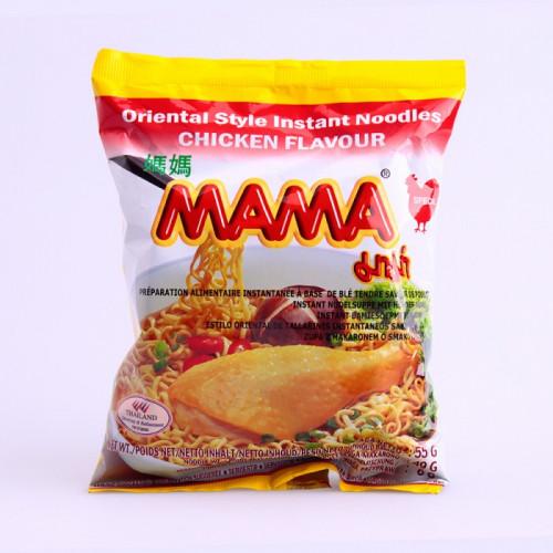 Soupe de nouilles saveur poulet, Mama, 55g