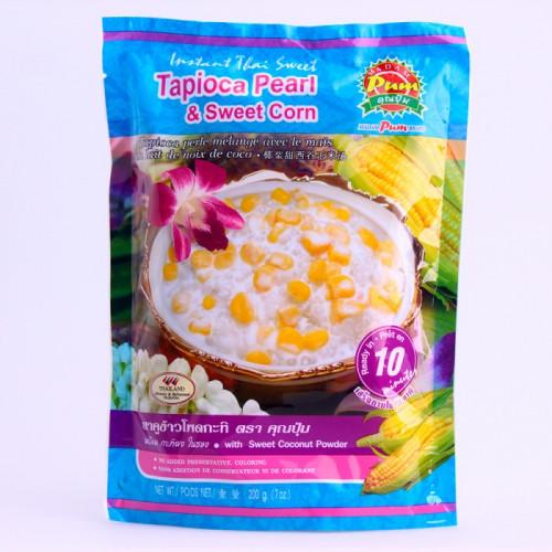 Billes de Tapioca mélangés avec le maïs en lait de coco 200g