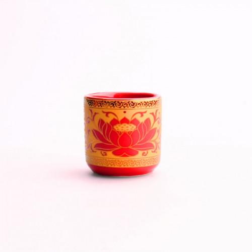 Verre à saké rouge lotus