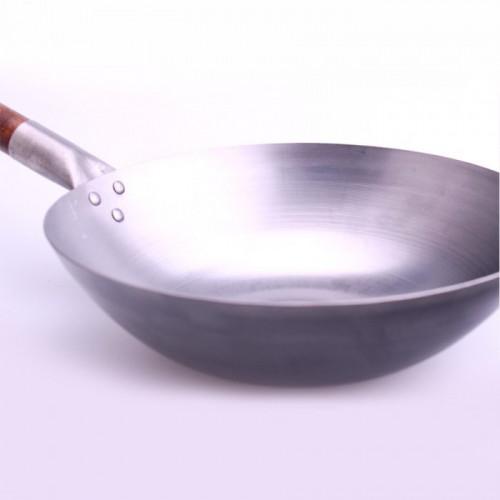 Wok en fer sans fond plat-38cm
