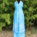 Ensemble tunique sans manche et pantalon Bleu