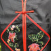 Chemisier noir motif floral