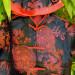 Ensemble enfant rouge et noir motif dragon