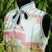 Tunique blanche motif estampe