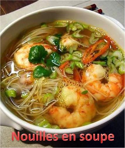 Nouilles en soupe