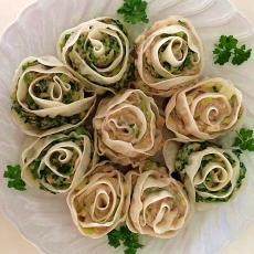 Raviolis gyoza en forme de Rose