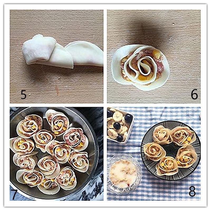 comment préparer Raviolis gyoza en forme de rose