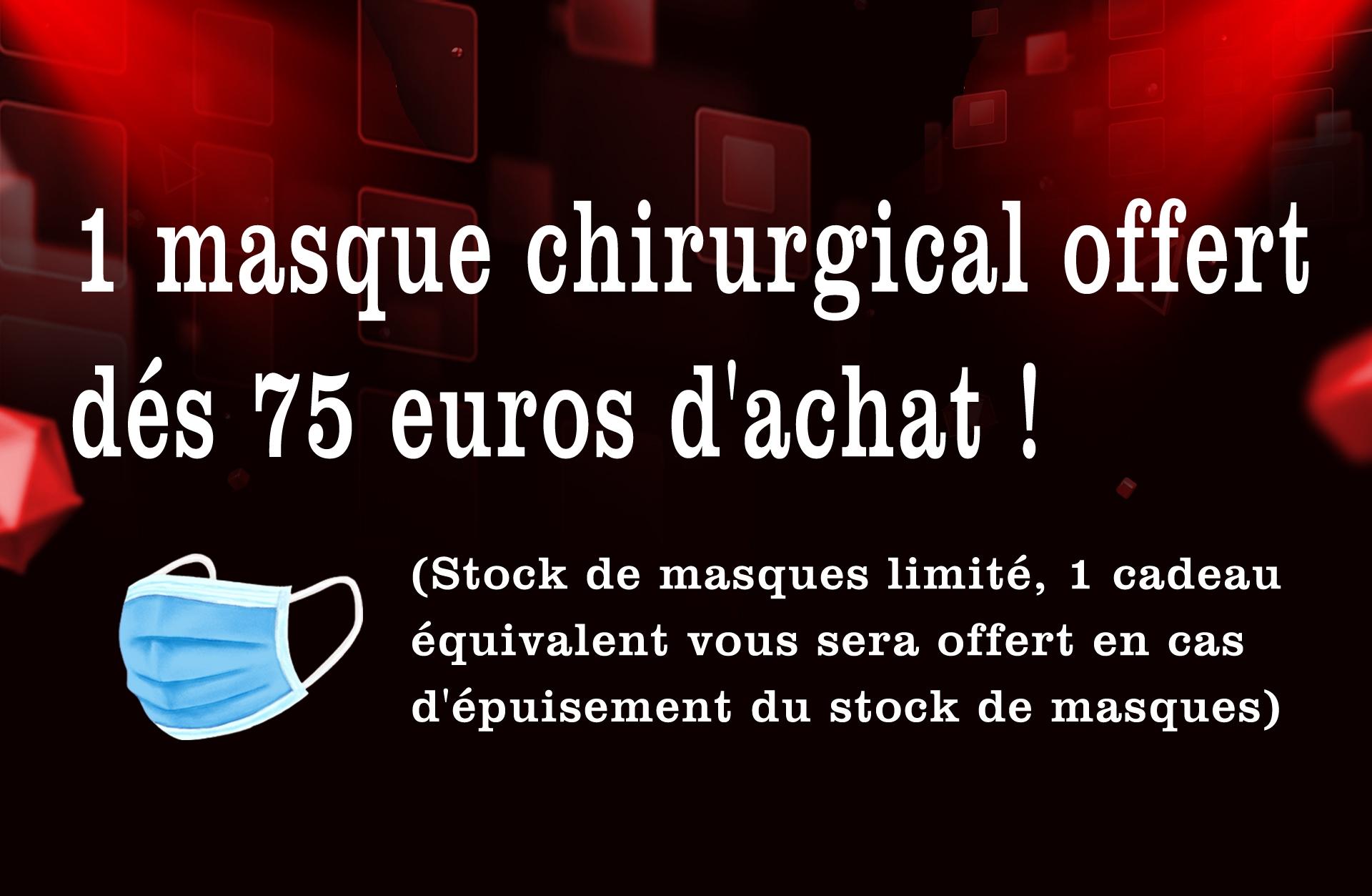 1 masque chirurgical offert dés 75 euros d'achat !